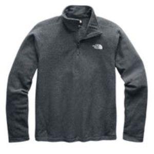 The North Face Gray Zip Fleece Pullover Sz L